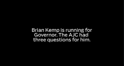 3 Questions for Brian Kemp