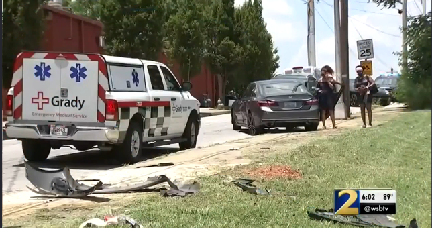Car chase ends in crash, three arrested