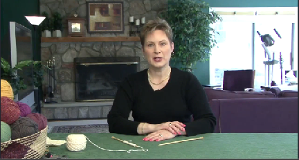 Knitting – Working Knit Stitches Row Two