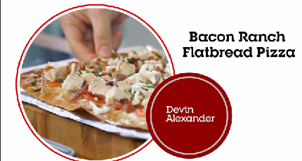 Bacon Ranch Flatbread Pizza