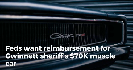 Feds want reimbursement for Gwinnett sheriff's $70K muscle car