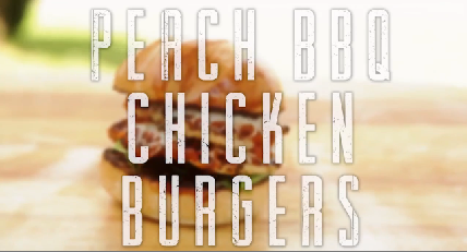 Peach BBQ Chicken Burgers