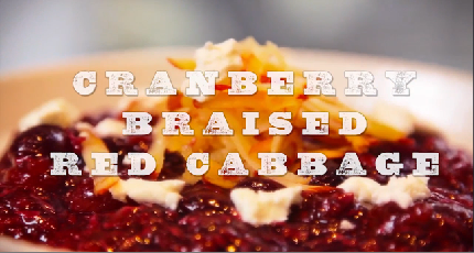 Cranberry Braised Red Cabbage