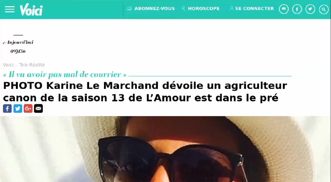 Karine Le Marchand for a farmer