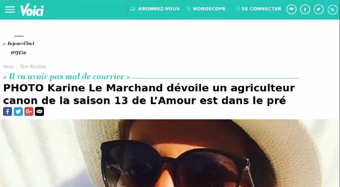 Karine Le Marchand for a farmer