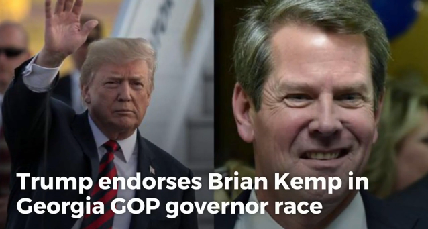 Trump endorses Brian Kemp in Georgia GOP governor race