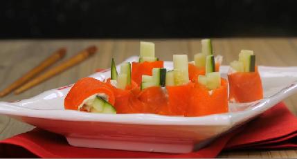 Smoked Salmon & Cucumber Sushi