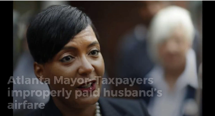 Atlanta Mayor: Taxpayers improperly paid husband's airfare