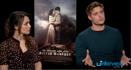 Max Irons and Samantha Barks on